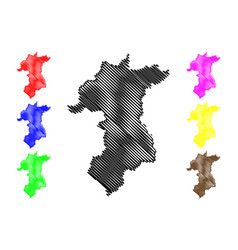 Yala province map vector