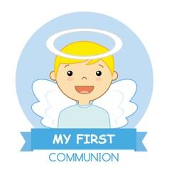 Angel boy vector