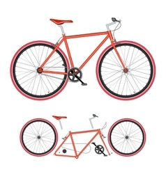 Bicycle parts poster quality vector image vector image