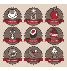 collection food vector image