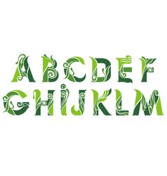 green alphabet vector image