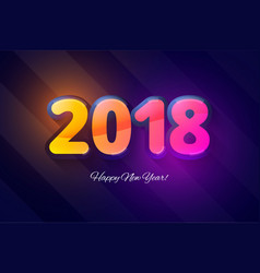 happy new year 2018 template for new year vector image vector image