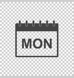 monday calendar page pictogram icon simple flat vector image vector image