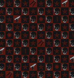 seamless pattern of death and violence vector image vector image