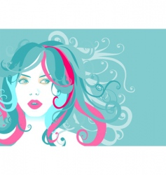 young woman portrait vector image