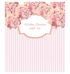 Card with Watercolor Geranium flower frame vector image vector image