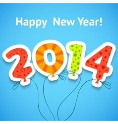 Happy New Year colorful greeting card with vector image