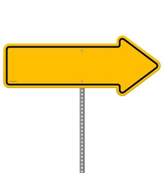 Yellow Direction Sign vector image vector image