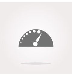automotive tachometer on web button icon vector image