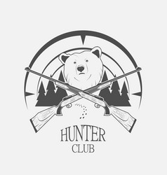 bear and gun vector image