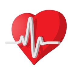 Heartbeat cartoon icon vector image