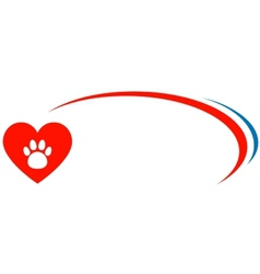 veterinarian background with heart vector image