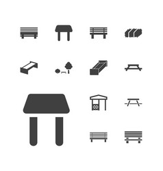 13 bench icons vector