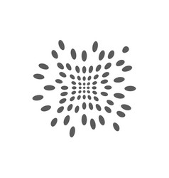 abstract halftone dots logo for technology vector image