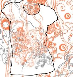 Abstract t-shirt design vector