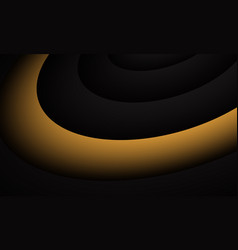 abstract yellow black curve circle design modern vector image