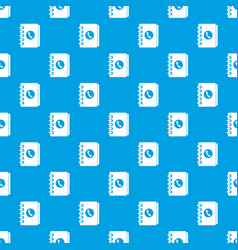 address book pattern seamless blue vector image