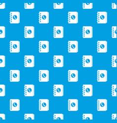 Address book pattern seamless blue vector