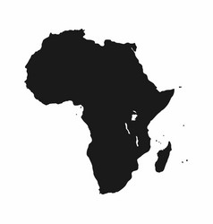 Africa map monochrome continent icon vector