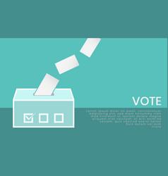 Ballot box icon vote selection concept vector