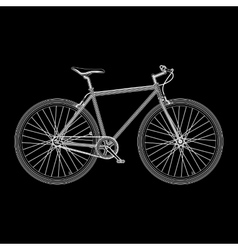 Bicycle poster quality vector