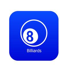 billiards icon blue vector image