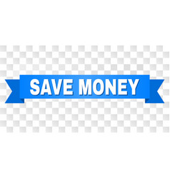 blue stripe with save money title vector image