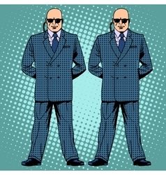 Bodyguards cordon protection secret service agents vector