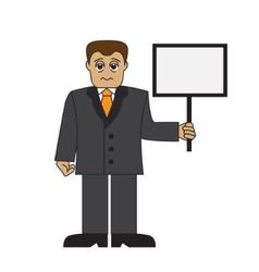 Cartoon tired businessman vector image