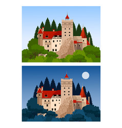 Castle of dracula vector