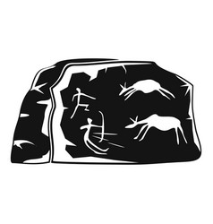 cave painting icon simple style vector image