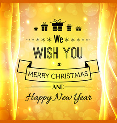 christmas and new year festive template vector image