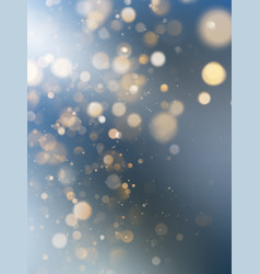 christmas and new year template with white blurred vector image