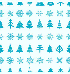 christmas seamless background merry vector image