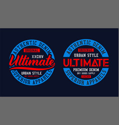 College ultimate typography graphic t shirt print vector