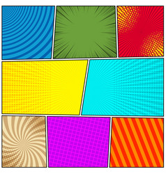 comic colorful background vector image