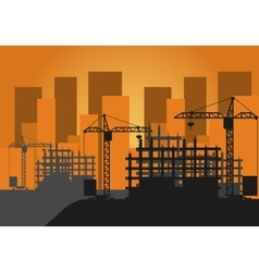 Construction Site vector image