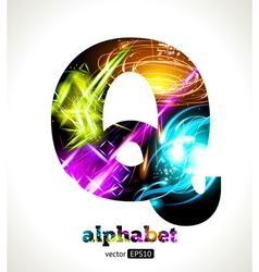 Design Abstract Letter Q vector image