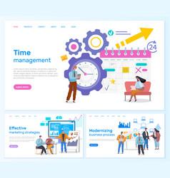 Effective marketing strategies time management vector