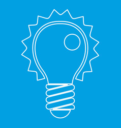 electric bulb icon outline vector image