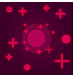 Flat Space abstract background claret color vector