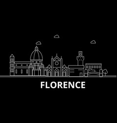 Florence silhouette skyline italy - florence vector