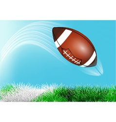 football ball flies over the line vector image