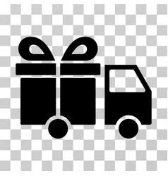 gift delivery van icon vector image