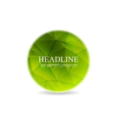 Green polygonal round sphere design vector image