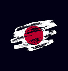 Grunge textured japanese flag vector
