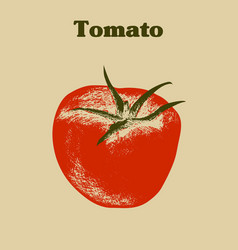 Grunge tomato silhouette vector