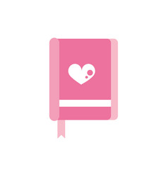 happy valentines day book heart love bookmarks vector image