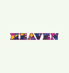 Heaven concept word art vector