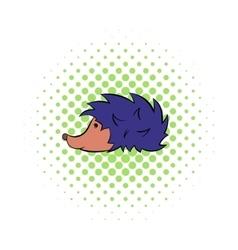 Hedgehog icon pop-art style vector image